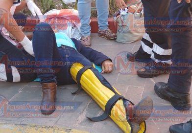 Mujer de la tercera edad es arrollada en la zona centro de Tepic