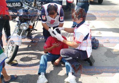 Motociclista sufre accidente sobre la avenida Allende de Tepic