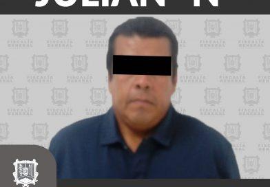 """Por violación equiparada es capturado Julián """"N"""""""