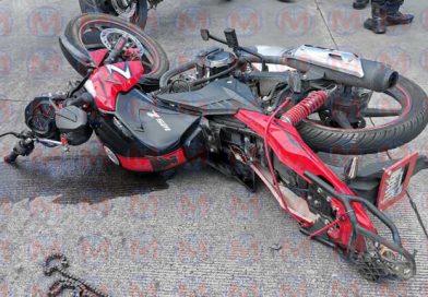 Motociclista resulta herido tras accidente en el bulevar Tepic – Xalisco