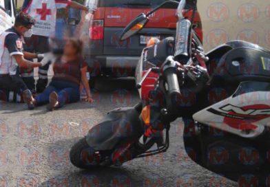 Mujer resulta herida tras accidente en la capital Nayarita