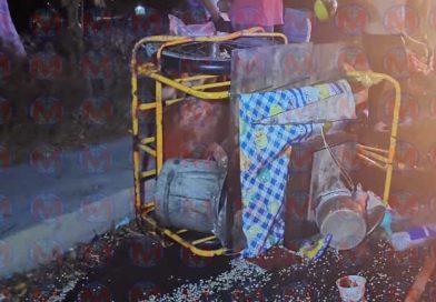 Motocicleta impacta a triciclo por alcance dejando dos heridos