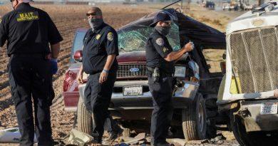 Murieron 10 mexicanos en accidente automovilístico en California.