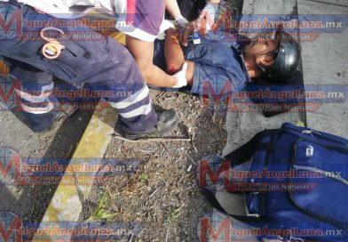 Motociclista sufre percance sobre el boulevard Colosio
