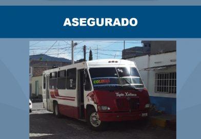 Recuperan camión urbano en en la ciudad de Xalisco con reporte de robo