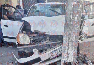 Tres heridos deja fuerte choque sobre la avenida de Los Insurgentes